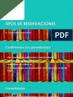 Tipos de Reservacion