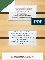 CALCULO DE DEMANDA DE AGUA EN LA SIERRA PERUANA(NORTE,CENTRO Y SUR).pptx