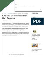 6 Agama Di Indonesia Dan Hari Rayanya ~ KamuIyaKamu.com