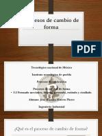 3.2 Formado Mecanico, Forjado, Prensado, Estirado, Cizallado.