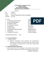 Minit Mesyuarat Asrama Bil 1 2018
