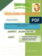Informe Nº 7 Destilación Extracción de Aceites Esenciales Vanessa