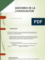 Trastornos de Coagulación
