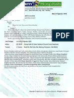 Surat Panggilan Seleksi Rekruitmen Karyawan(i)RS. Siloam Hospitals
