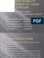 Ppt of voltage stability enhancement using statcom