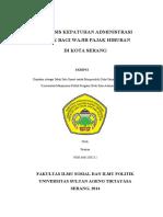 ANALISIS KEPATUHAN ADMINISTRASI PAJAK BAGI WAJIB PAJAK HIBURAN DI KOTA SERANG - Copy.pdf