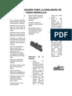 Manual de Usuario Para La Dobladora de Tubos Hidraulica