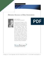 Defining Success in Open Innovation