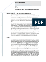 What a Dentist Should Know About Oral and Pharyngeal Cancer