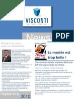 Visconti - newsletter Septembre 2010 - La mariée est trop belle