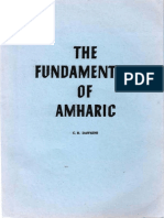 The Fundamentals of Amharic