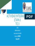 Actividad Integradora TIC