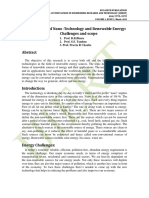 A Review of Nano -Technology and Renewable Energy