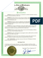 WA proclamation for Rail Safety Week