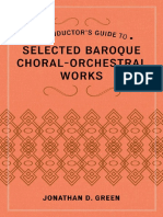 A Conductor's Guide to Selected Baroque Choral-Orchestral