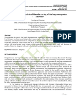 Design , Analysis And Manufacturing of Garbage compactor - a Review