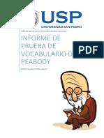 Informe Test de Peabody