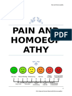 Pain and Homoeopathy