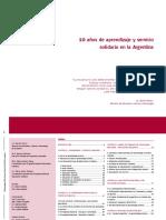 Diez Años de Aprendizaje y Servicio Solidario en La Argentina '07 104pp