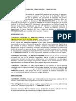 Modelo de Contrato de Franquicia