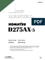 Komatsu D275AX-5 Dozer Bulldozer Service Repair Manual SN 20001 and up.pdf