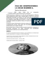 Biografías de Compositores de La Edad Barroca