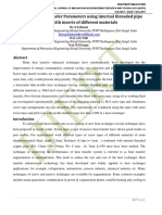 Review of Heat Transfer Parameters using internal threaded pipe fitted with inserts of different materials