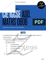 Add Maths (Igcse)