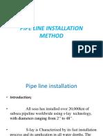 Pipe Line Installation Method Seminar