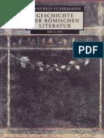 (Reclams Universal-Bibliothek) Manfred Fuhrmann-Geschichte Der Römischen Literatur-Reclam (1999)