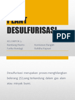Kelompok 5 Plant Desulfurisasi