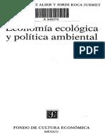 Indice Martinez Alier y Roca Jusmet Economia ecologica y economia ambiental