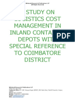 A Study on Logistics Cost Management in Inland Container Depots With Special Reference to Coimbatore District [www.writekraft.com]