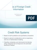 Sources of Foreign Credit