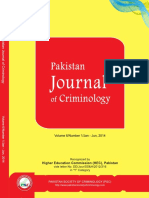 Pakistan Journal of Criminology