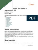 MigratorforNotestoSharePoint 6.9 ReleaseNotes (1)