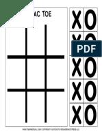 Tic Tac Toe Printable