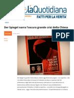 Der Spiegel Narra Loscura Grande Crisi Della Chiesa