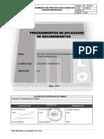 1.-Procedimiento de Aplicacion Bases de Transformadores