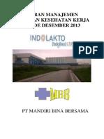 Laporan Manajemen Pelayanan Kesehatan Kerja Purwosari