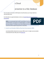 Import Data Connection to a SQL Database