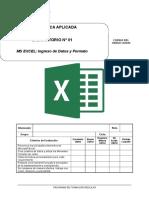Lab 01 - Microsoft Excel Ingreso de Datos y Formatos-1