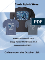 oehs choir 2018 order form