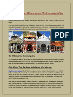 Make Your Char Dham Yatra 2019 Successful by Us