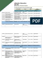 Cronograma Del 10 de Sep. Al 14 Sep. 2018
