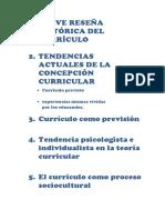 Breve Reseña Histórica Del Currículo