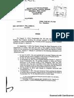 Judge Elmo Alameda's order of arrest warrant vs Trillanes
