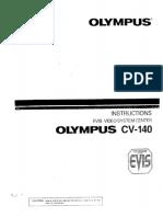 MANUAL DE INSTRUCCIONES DE OLYMPUS CV-140
