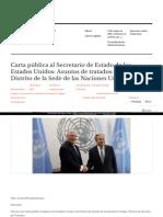 Https Analisis05 Wordpress Com 2017-10-28 Carta Publica Al Secretario de Estado de Los Estados Unidos Asuntos de Tratados Que Es El Distrito de La Sede de Las Naciones Unidas