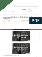 Https Analisis05 Wordpress Com 2017-10-28 America Esta Bajo La Ley Talmudica No La Ley Sharia